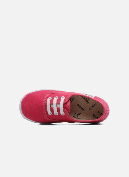 Sneaker Victoria Inglesa Lona rosa ansicht von links