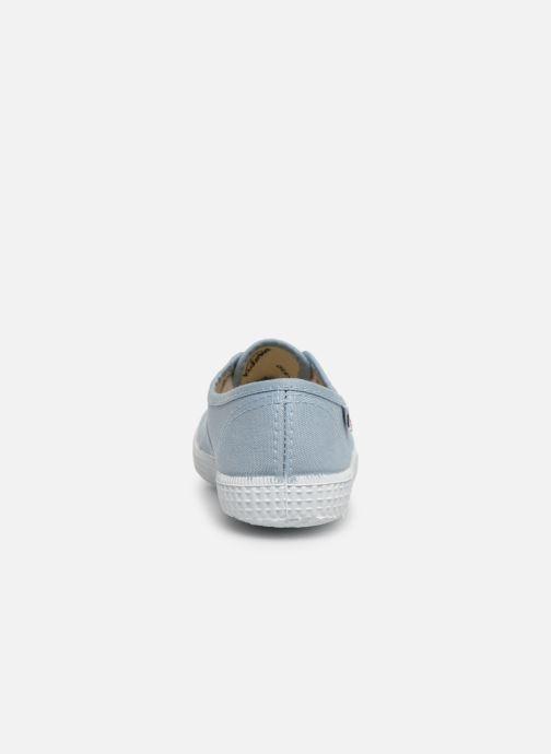 Baskets Victoria Inglesa Lona Bleu vue droite