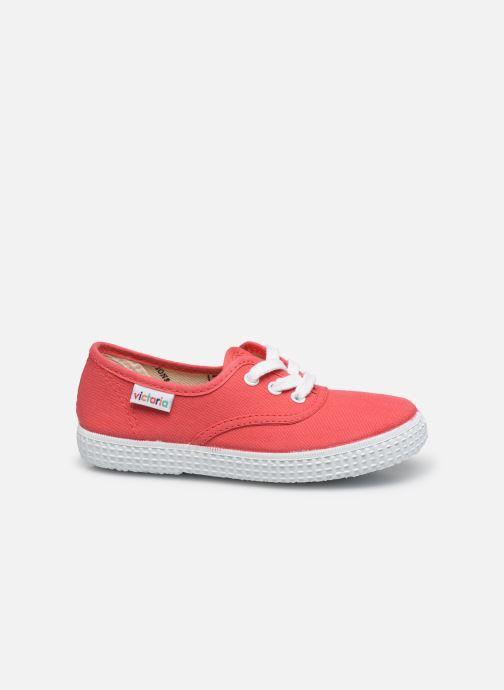 Sneakers Victoria Inglesa Lona Rosso immagine posteriore