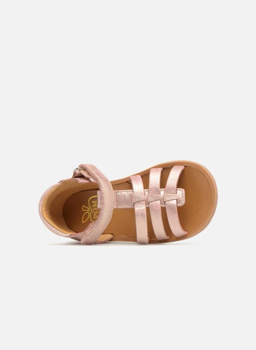 Sandales et nu-pieds Pom d Api POPPY STRAP Rose vue gauche