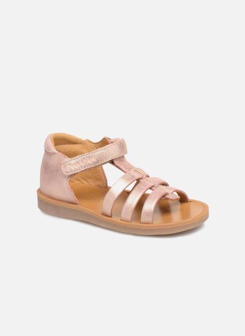 Sandales et nu-pieds Pom d Api POPPY STRAP Rose vue détail/paire