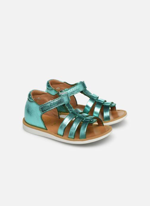 Sandales et nu-pieds Pom d Api POPPY STRAP Argent vue 3/4
