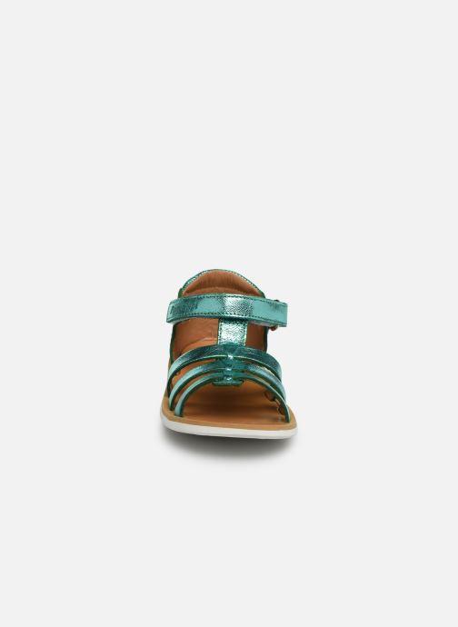 Sandales et nu-pieds Pom d Api POPPY STRAP Argent vue portées chaussures