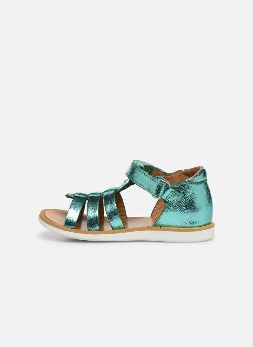 Sandales et nu-pieds Pom d Api POPPY STRAP Argent vue face