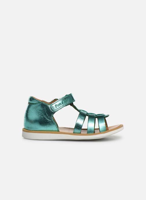 Sandales et nu-pieds Pom d Api POPPY STRAP Argent vue derrière