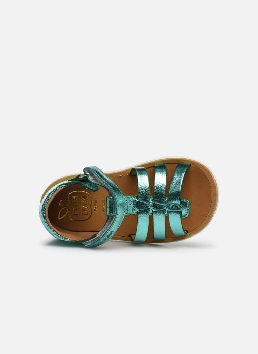 Sandales et nu-pieds Pom d Api POPPY STRAP Argent vue gauche