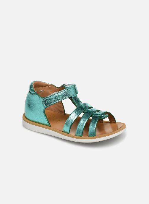 Sandales et nu-pieds Pom d Api POPPY STRAP Argent vue détail/paire