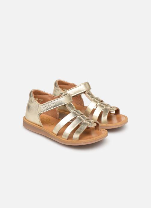 Sandales et nu-pieds Pom d Api POPPY STRAP Or et bronze vue 3/4