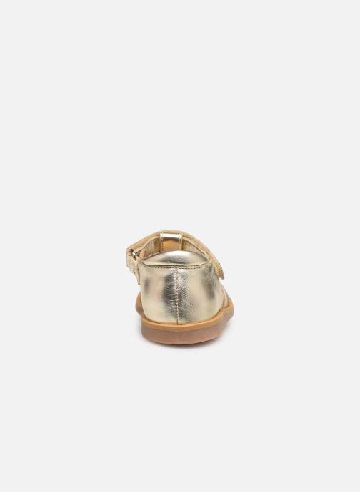 Sandales et nu-pieds Pom d Api POPPY STRAP Or et bronze vue droite