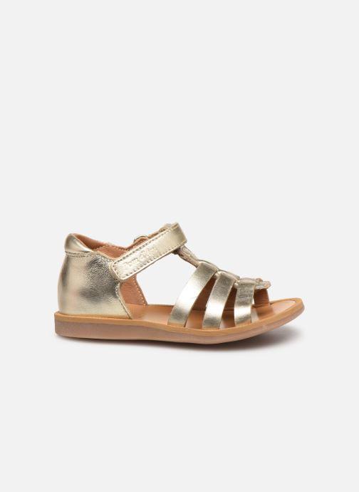 Sandales et nu-pieds Pom d Api POPPY STRAP Or et bronze vue derrière