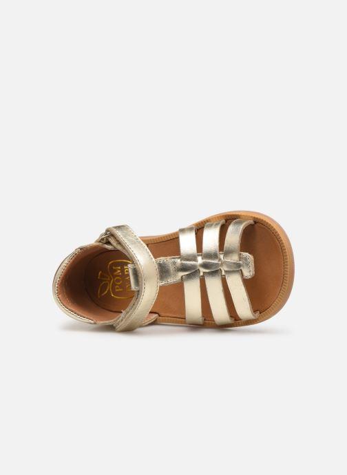 Sandales et nu-pieds Pom d Api POPPY STRAP Or et bronze vue gauche