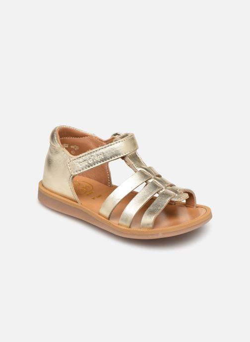Sandales et nu-pieds Pom d Api POPPY STRAP Or et bronze vue détail/paire