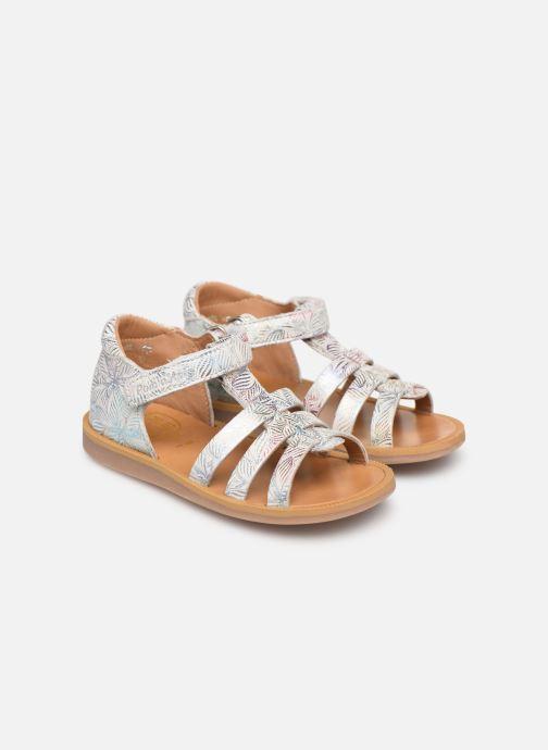 Sandales et nu-pieds Pom d Api POPPY STRAP Blanc vue 3/4
