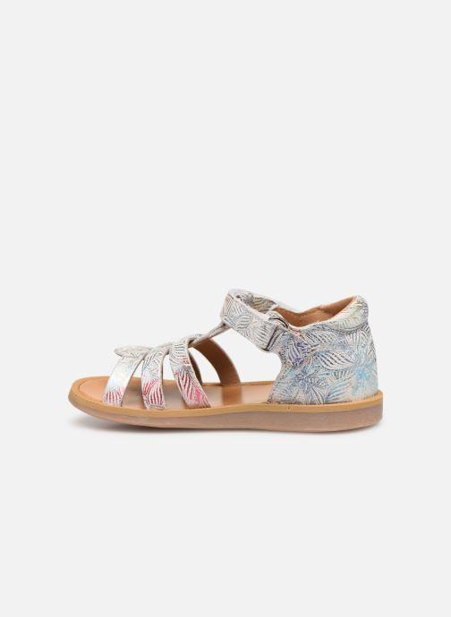 Sandales et nu-pieds Pom d Api POPPY STRAP Blanc vue face