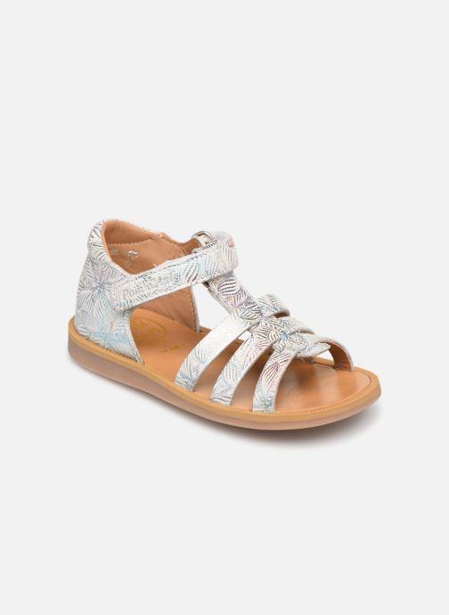 Sandales et nu-pieds Pom d Api POPPY STRAP Blanc vue détail/paire