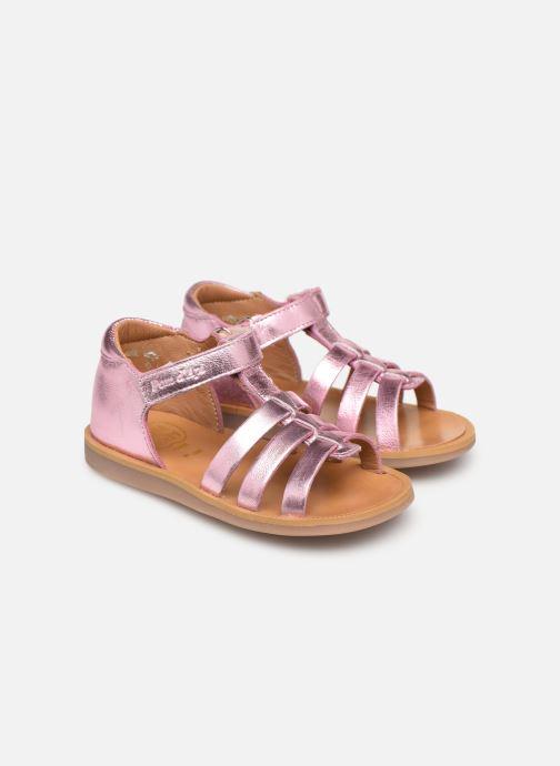 Sandales et nu-pieds Pom d Api POPPY STRAP Rose vue 3/4