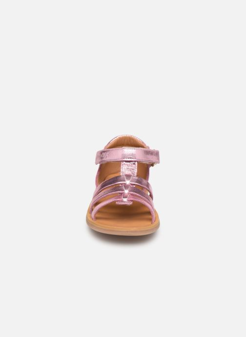 Sandales et nu-pieds Pom d Api POPPY STRAP Rose vue portées chaussures