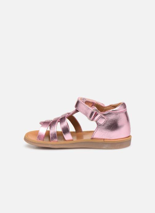Sandales et nu-pieds Pom d Api POPPY STRAP Rose vue face