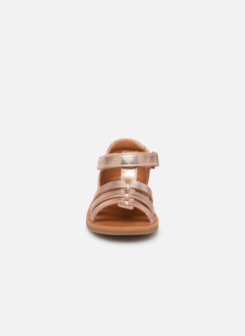 Sandales et nu-pieds Pom d Api POPPY STRAP Or et bronze vue portées chaussures