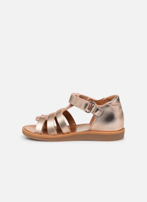 Sandales et nu-pieds Pom d Api POPPY STRAP Or et bronze vue face