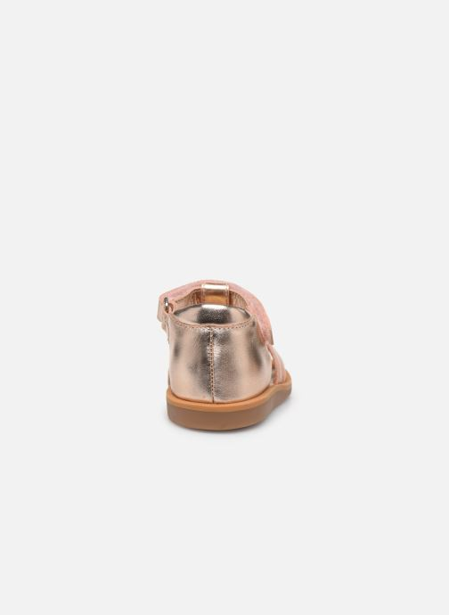 Sandalias Pom d Api POPPY STRAP Oro y bronce vista lateral derecha