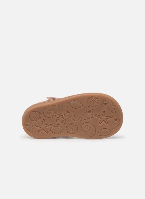 Sandales et nu-pieds Pom d Api POPPY STRAP Or et bronze vue haut