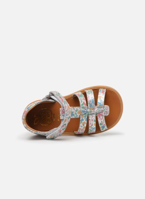 Sandales et nu-pieds Pom d Api POPPY STRAP Multicolore vue gauche