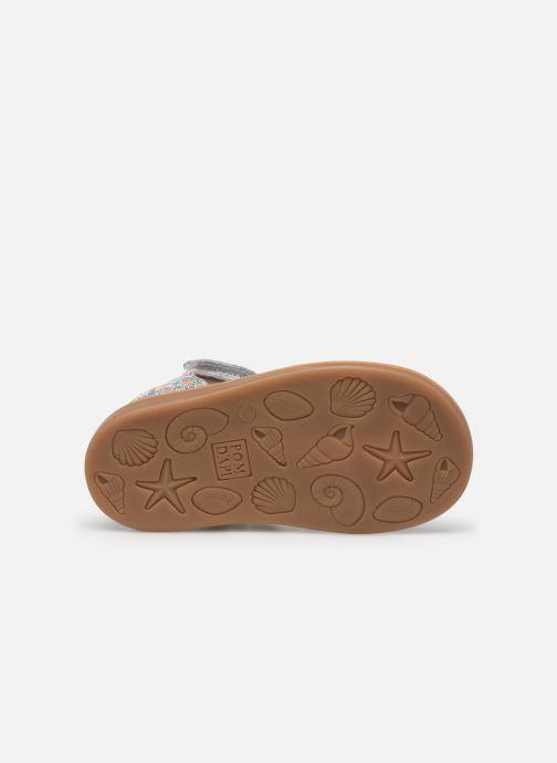 Sandales et nu-pieds Pom d Api POPPY STRAP Multicolore vue haut