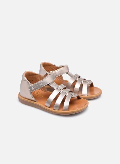 Sandali e scarpe aperte Pom d Api POPPY STRAP Oro e bronzo immagine 3/4