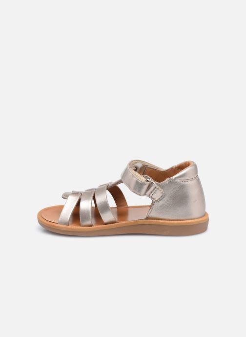 Sandali e scarpe aperte Pom d Api POPPY STRAP Oro e bronzo immagine frontale
