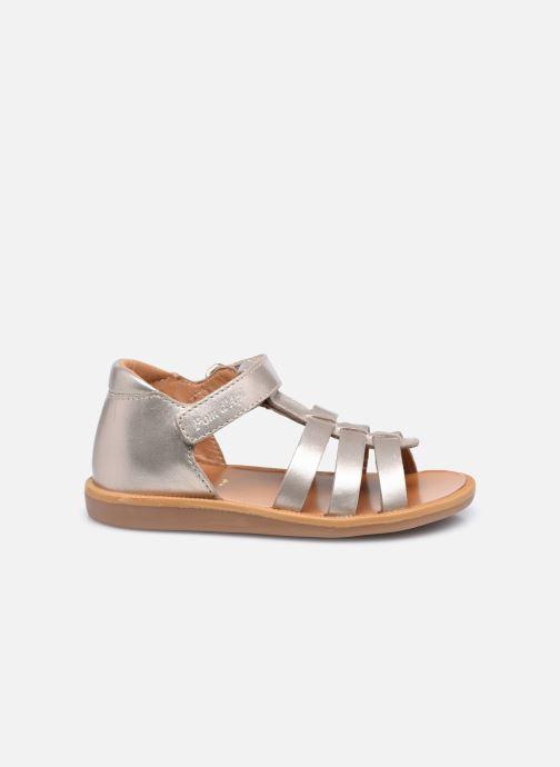 Sandali e scarpe aperte Pom d Api POPPY STRAP Oro e bronzo immagine posteriore