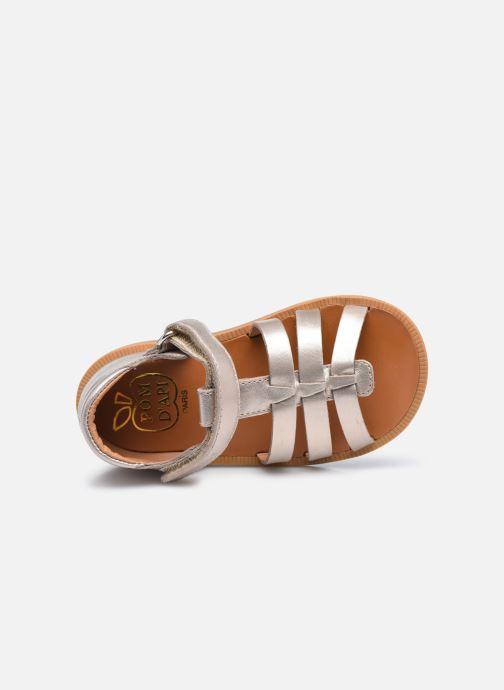 Sandali e scarpe aperte Pom d Api POPPY STRAP Oro e bronzo immagine sinistra