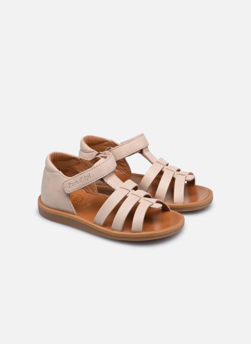 Sandali e scarpe aperte Pom d Api POPPY STRAP Rosa immagine 3/4