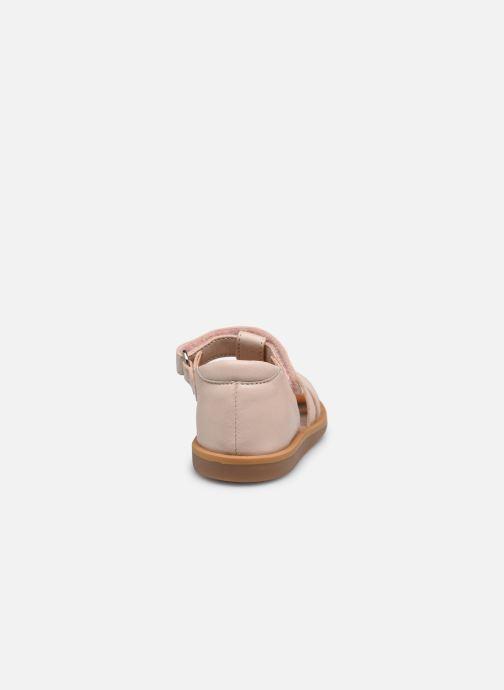 Sandali e scarpe aperte Pom d Api POPPY STRAP Rosa immagine destra