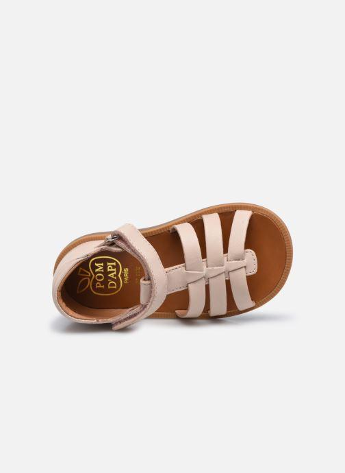 Sandali e scarpe aperte Pom d Api POPPY STRAP Rosa immagine sinistra