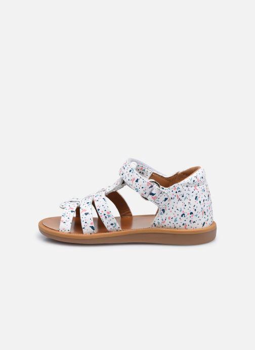Sandali e scarpe aperte Pom d Api POPPY STRAP Bianco immagine frontale