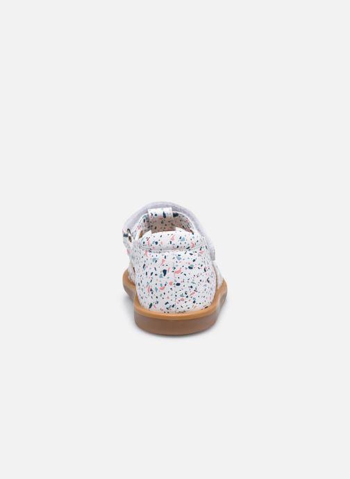 Sandali e scarpe aperte Pom d Api POPPY STRAP Bianco immagine destra