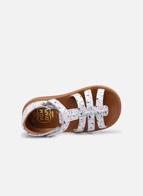 Sandali e scarpe aperte Pom d Api POPPY STRAP Bianco immagine sinistra