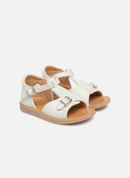 Sandales et nu-pieds Pom d Api POPPY BUCKLE Blanc vue 3/4