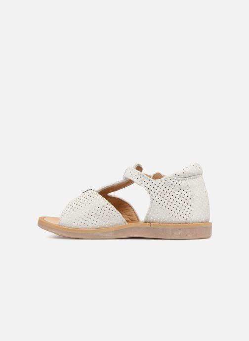 Sandales et nu-pieds Pom d Api POPPY BUCKLE Blanc vue face