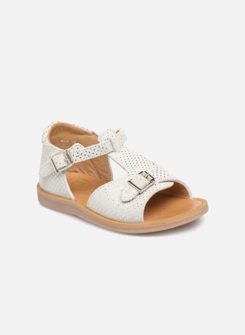 Sandales et nu-pieds Pom d Api POPPY BUCKLE Blanc vue détail/paire