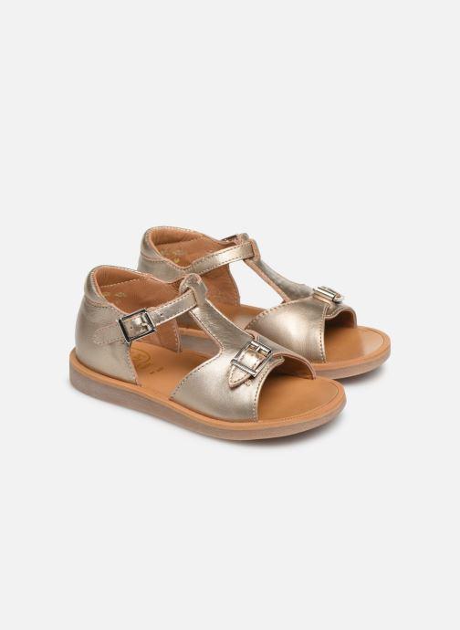 Sandales et nu-pieds Pom d Api POPPY BUCKLE Or et bronze vue 3/4