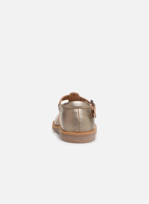 Sandales et nu-pieds Pom d Api POPPY BUCKLE Or et bronze vue droite