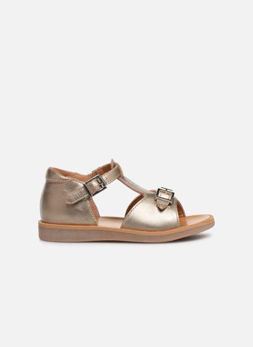 Sandales et nu-pieds Pom d Api POPPY BUCKLE Or et bronze vue derrière