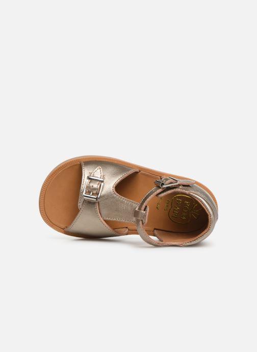 Sandales et nu-pieds Pom d Api POPPY BUCKLE Or et bronze vue gauche
