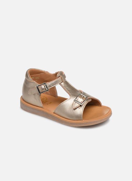 Sandales et nu-pieds Pom d Api POPPY BUCKLE Or et bronze vue détail/paire