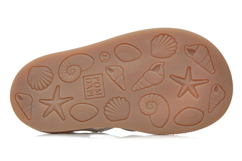 Sandales et nu-pieds Pom d Api POPPY BUCKLE Argent vue haut