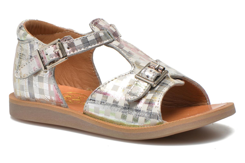 Sandales et nu-pieds Pom d Api POPPY BUCKLE Argent vue détail/paire