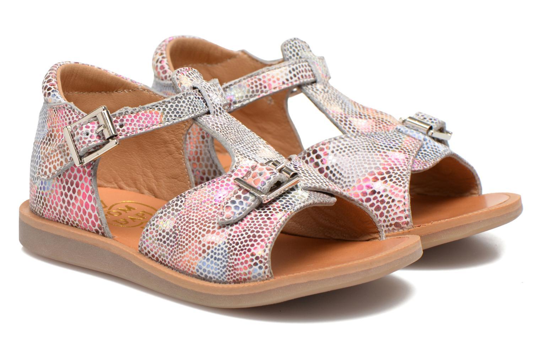 Sandales et nu-pieds Pom d Api POPPY BUCKLE Multicolore vue 3/4