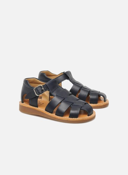 Sandals Pom d Api Yapo Papy Buckle Blue 3/4 view